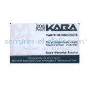 Carte de propriété KABA