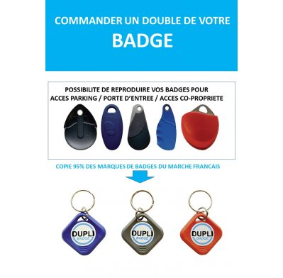 BADGE IMMEUBLE