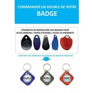 Badge d'immeuble et parking