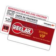Carte de reproduction REELAX
